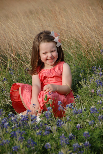 Bluebonnet girl
