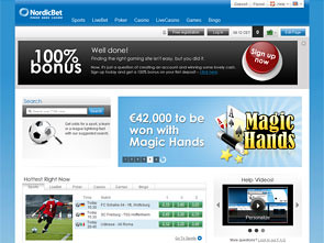 NordicBet Sportsbook Home