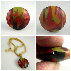 Gaugin's Garden (metalartiste) Tags: abstract colorchallenge naftali artbead lentilshape polymerreversiblebead