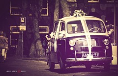 Wrapped Taxi (Jeff Krol) Tags: street old city wedding holland netherlands car utrecht domtoren pentax cab taxi parking nederland wrapped wrap oldtimer smc k20 135mm pentaxsmc k20d pentaxk20d jeffkrol hoomark pentaxsmcpa135mmf25
