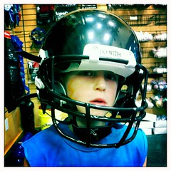 portrait football helmet equipment kid2