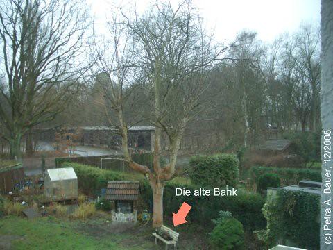 Unser Garten mit der alten Bank, Herbst 2008