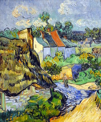 Vincent van Gogh - Houses at Auvers at Boston Museum of Fine Arts (mbell1975) Tags: houses usa boston museum painting landscape ma us mfa massachusetts fine vincent arts impressionism van mass gogh impression impressionist auvers