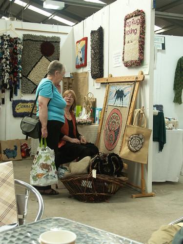Rag-rug maker, Jenni Stuart Anderson