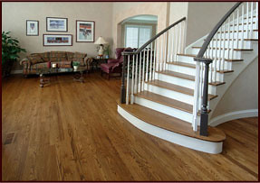Hardwood floors installation in home