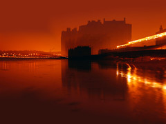 ZOOMING IN ON THE PAST (kenny barker) Tags: castle art water night landscape scotland zoom fife sharing g1 blackness cityart waterenvirons daarklands sbfmasterpiece virgiliocompany sbfgrandmaster