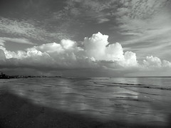 It's Later Than You Think (EXPLORED) (It's a Keeper) Tags: light sunset sky bw seascape beach clouds coast boat blackwhite waves florida pov prayer depthoffield coastal shore april mm drama stpetebeach coastalliving itsakeeper itslaterthanyouthink myprayerforyou stevenbrisson debbiefrileyphotography monochromaticmonth andletusrunwithperseverancetheracethatissetbeforeushebrews121 isaiah4422ihavesweptawayyoursinslikethemorningmistsihavescatteredyouroffenseslikethecloudsohreturntomeforihavepaidthepricetosetyoufree thereforesincewearesurroundedbysogreatacloudofwitnessesletusalsolayasideeveryweightandsinwhichclingssoclosely