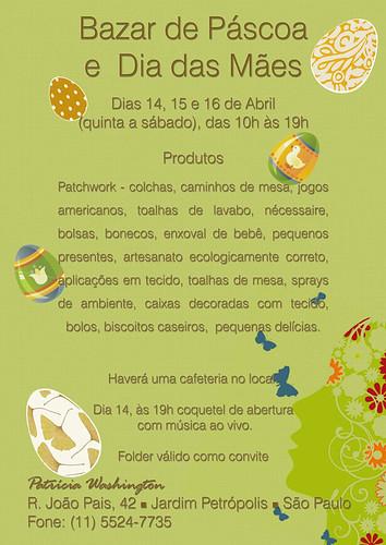 bazar de páscoa e Dia das Mães - Patricia by Cantinho da Aracy