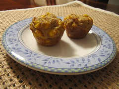 Whole Grain Corn Mini Muffins