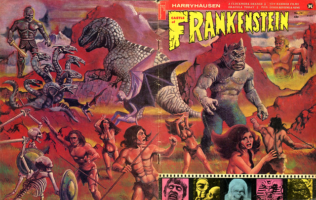 Castle Of Frankenstein, Issue 19 (1972) Cover Art by Maelo Cintron