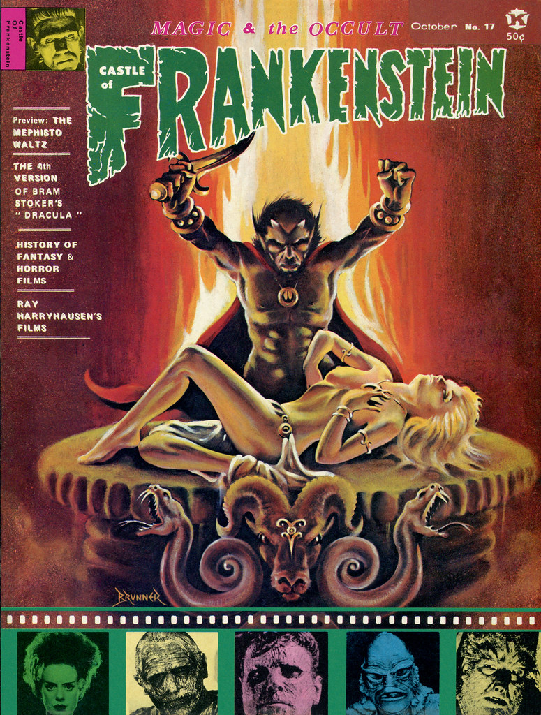 Castle Of Frankenstein, Issue 17 (1971)Cover Art by Frank Brunner