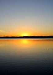 Simple (pominoz) Tags: sunset lake reflection belmont nsw lakemacquarie