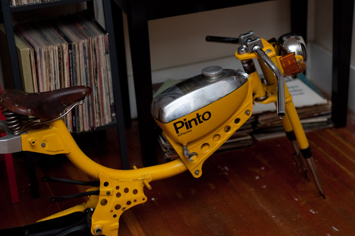 Andrew's New Pinto Moped.
