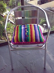 New cushion - Back side (LauraLRF) Tags: rayas thread stripes crochet cotton hilo cushion almofada cojin algodon tejido ganchillo almohadon attic24