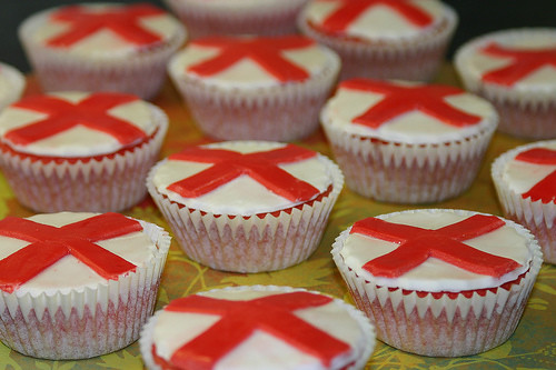 5627176064 2055a187f0 St George's Day Cupcakes – Dragon Fighting Patron Saint of England