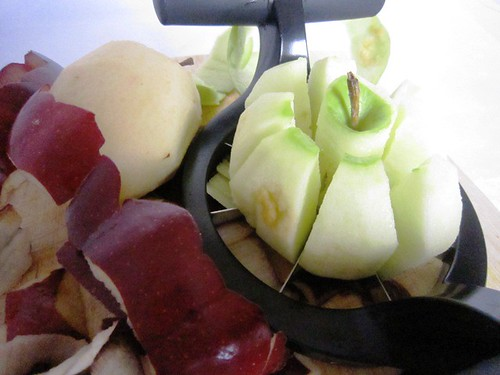 Slicing apples, take four
