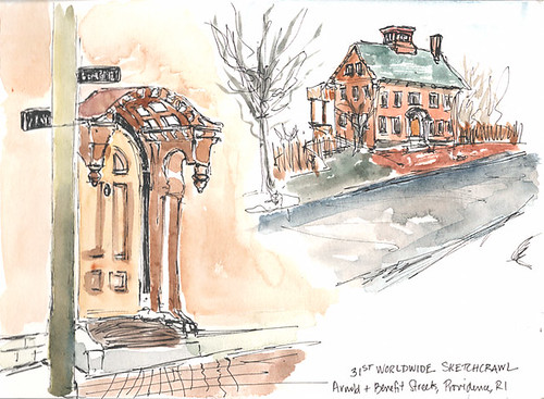 Sketchcrawl 31: Arnold and Benefit Streets, Providence, RI