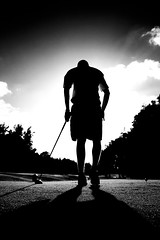 portrait bw sports silhouette canon golf eos hawaii cool dramatic golfing 7d epic infared taylormade tamron1750 honololu hawaiifamilyvacation canon7d