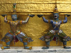 Demon statues, Wat Phra Kaew, Bangkok (PeterCH51 - many thanks for 5 million visits!) Tags: statue thailand temple gold golden asia southeastasia bangkok demon wat phrakaew phrakaeo demonstatue totallythailand peterch51