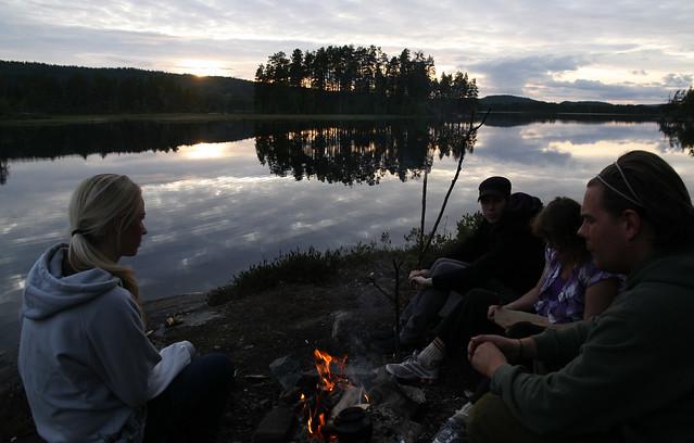 Bålstund ved Velmunden i Fjorda på Hadeland