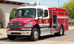 Phoenix Fire Department Ladder Tender 41 (ChrisK48) Tags: pierce pfd dvt phoenixaz freightliner kdvt phoenixfd phoenixfiredepartment phoenixdeervalleyairport laddertender41