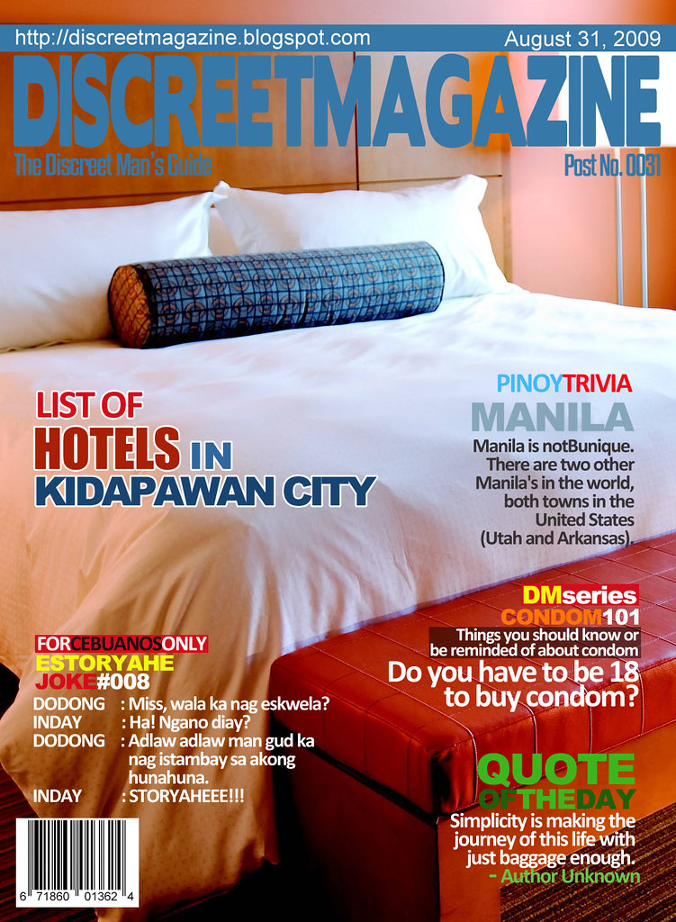 Discreet Magazine August 31 2009