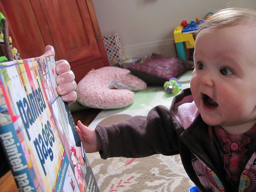 "the first time she saw ""her"" book"
