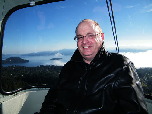 Up, Up and Away with Vince [Aerial Cable Car on Cerro Otto, Bariloche, Argentina] by katiemetz, on Flickr