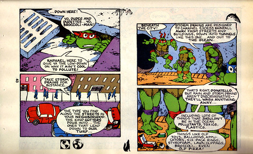 TMNT Adventures Special - Spring 1991 :: Teenage Mutant Ninja Turtles meet Archie // 'STORM DRAIN SAVERS', pg.43 (( 1991 ))