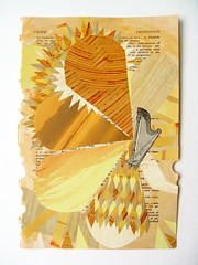 """DAY 49 - 4/5/11 - """"Mother Therapy"""" (ThePaperButton) Tags: art yellow collage mom mother therapy harp comfort pleasant musicalinstruments finearts musictherapy 365project yearlongproject thepaperbutton karimcdonald"""