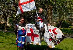 St George (PeteZab) Tags: nottingham uk england culture knight armour horseback oldmarketsquare patronsaint canoneos50d stgeorgesday peterzabulis sigma1770os