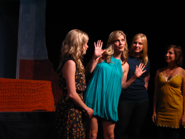 Ally, Lucy, Lauren (Megan Crockett) and Brenda (Vanessa Perkins).