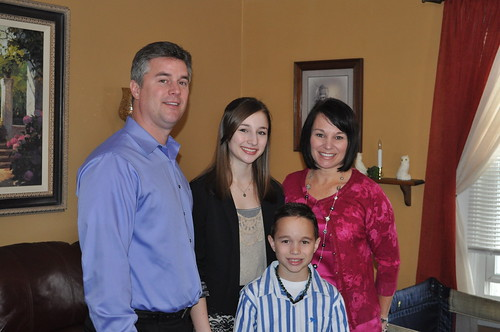 Rick, Julie, Brooke, and Chase on Easter