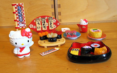 Hello Kitty, Sushi Chef (Jay Tilston) Tags: hello sushi toy miniature kitty sanrio 16 rement licenced