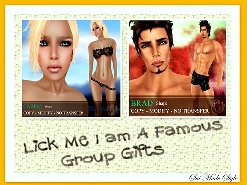 Lick Me I'm a Famous Group Gifts