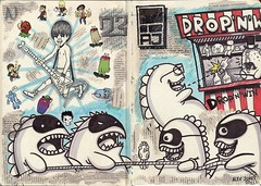 Drop'n'Win (TomatoZero) Tags: moleskine alex james sketchbook ajames inkieme