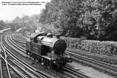 c.1934 - Rickmansworth. (53A Models) Tags: train underground railway steam 94 hertfordshire londontransport rickmansworth passengertrain metropolitanrailway classg 064t