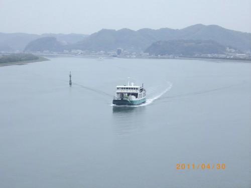 神島大橋の上から