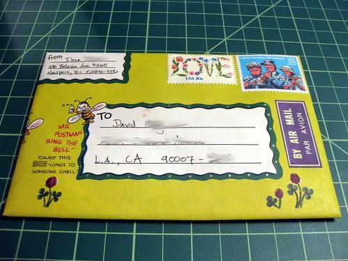 Vintage bee illustrated envelope 2