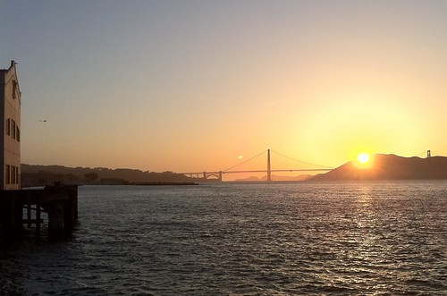 sunset from Fort Mason