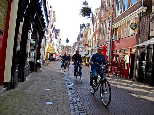Bikers in Haarlem, Netherlands