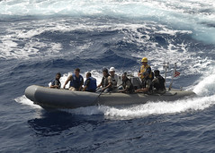 A visit, board,search and seizure team circles USS Robert G. Bradley. (Official U.S. Navy Imagery) Tags: training board navy visit sailor usnavy aps guidedmissilefrigate capeverdean vbss foreignmilitary searchandseizureteam africapartnershipstationwest ussrobertgbragleyffg49