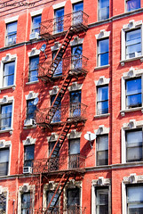 Red house (*Misaki*) Tags: red house newyork stairs harlem manhattam