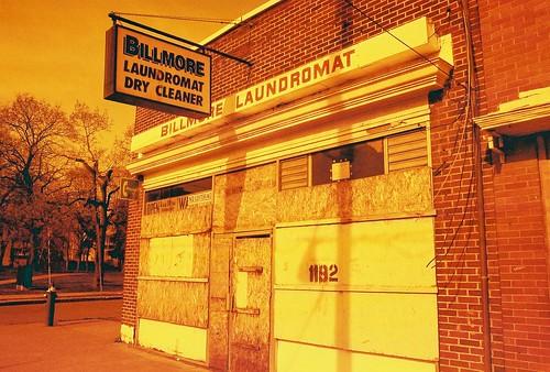 Billmore Laundromat in Redscale