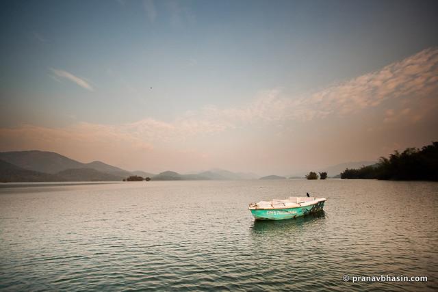 Lone Boat At Parambikulam