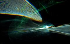 Beyond Horizons (Reciprocity) Tags: light abstract green art film glass analog experimental space horizon refraction analogue caustics photogram diffraction lightart velvia100f reciprocity refractograph lenslessphotography s10a20