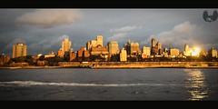 New York City... (Born_MaVerick) Tags: life city sunset ny newyork contrast canon landscape metro shining pv hpc scintillating t1i