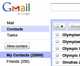 Gmail 25K contacts