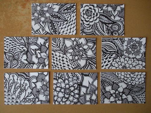 Doodle Details Series ATCs