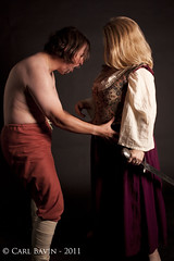 Warrior & Maiden 26 (Carlitocub) Tags: costume norman warrior viking maiden wench